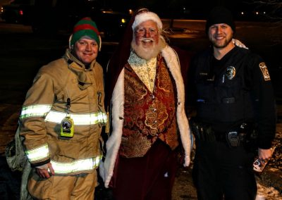 Santa Dan Supporting Our First Responders
