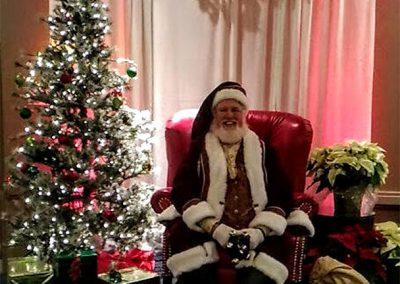 Santa Dan Posing For Picture