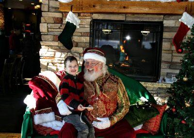 Santa Dan & Young Boy Laughing